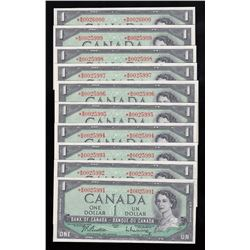 Bank of Canada $1 Replacement Notes - Lot of 10  Consecutive Notes