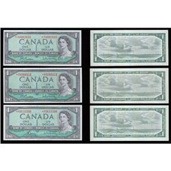 Bank of Canada $1, 1954 Replacement Trio