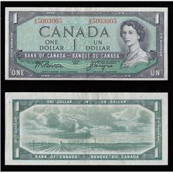 Bank of Canada $1, 1954 - Radar