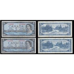 Bank of Canada $5 Notes - Lot of 2