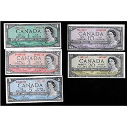 Bank of Canada $1 - $20 Set, 1954