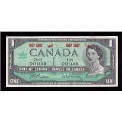 Bank of Canada $1 Ink Error, 1967