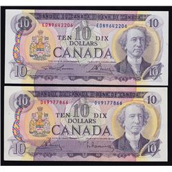 Bank of Canada $10, 1971 - Lot of Two