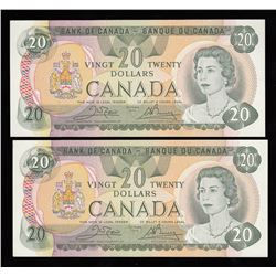 Bank of Canada $20, 1979 - Lot of Two Notes