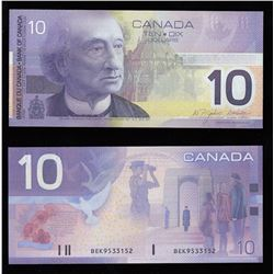 Bank of Canada $10, 2003 Rare BEK Prefix