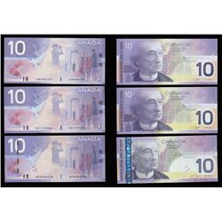 Bank of Canada $10, 2004 & 2006 Replacment Notes