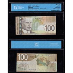 Bank of Canada $100, 2005 - Four Digit Radar