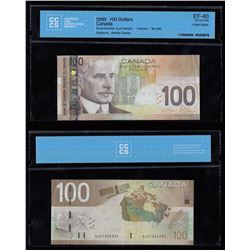 Bank of Canada $100, 2009 -  Four Digit Radar