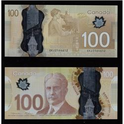 Bank of Canada $100, 2011 - Radar