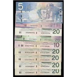 Bank of Canada Banknote lot with Radar