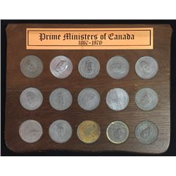 Prime Ministers of Canada 1867 - 1970 Medallion Set