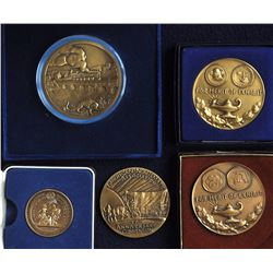Lot of 5 World Medals