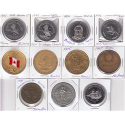 Lot of 11 Trade Dollars and Medals
