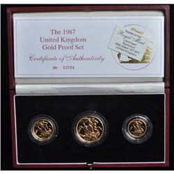 Great Britain Gold Proof Set, 1987