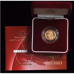 Great Britain Half Gold Sovereign, 2003