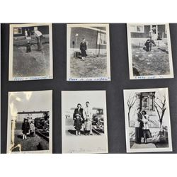 C. 1940'S PHOTO ALBUM W/ APPROX. 180 PHOTOS