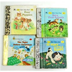 LOT OF 4 MINI LITTLE GOLDEN BOOKS