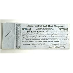 1873 ILLINOIS CENTRAL RAIL ROAD COMPANY SHARE CAPITAL DOCUMENT