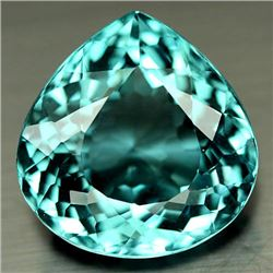 29.54 CT AQUAMARINE BLUE AFRICAN QUARTZ