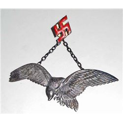 GERMAN NAZI HUNGARIAN LUFTWAFFE AXIS PILOT BADGE
