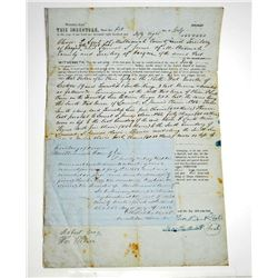 1858 OREGON TERRITORIAL DEED TO LAND SOLD DOCUMENT