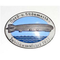GERMAN NAZI ZEPPELIN AIR SHIP BADGE
