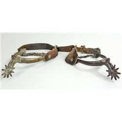 PAIR OF VINTAGE SPURS W/ LEATHER STRAPS