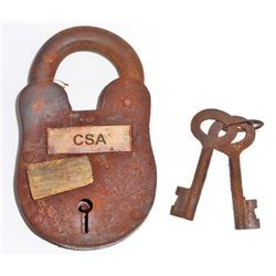 CAST IRON CSA PADLOCK W/ KEYS