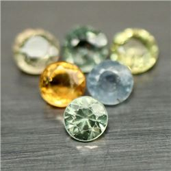 LOT OF 6.53 CTS OF FANCY COLOR SONGEA AFRICAN SAPPHIRES