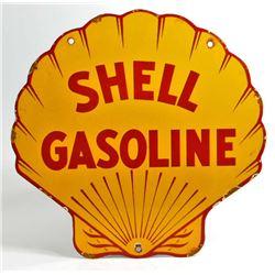 VINTAGE SHELL GASOLINE PORCELAIN ADVERTISING SIGN