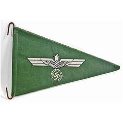 GERMAN NAZI ARMY OFFICERS STAFF CAR PENNANT