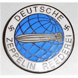 GERMAN NAZI DEUTSCHE ZEPPELIN REEDEREI AIR SHIP BADGE