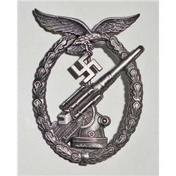 GERMAN NAZI LUFTWAFFE FLAK ARTILLERY BADGE