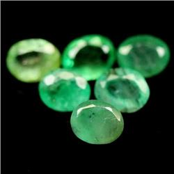 LOT OF 6.08 CTS OF GREEN ZAMBIAN EMERALDS