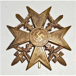 GERMAN NAZI CONDOR LEGION SPANISH CROSS IN GOLD W/ SWORDS