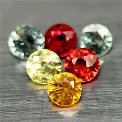 LOT OF 7.26 CTS OF FANCY COLOR SONGEA AFRICAN SAPPHIRES
