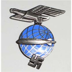 GERMAN NAZI ZEPPELIN AIR SHIP OFFICER VISOR CAP BADGE
