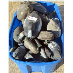FLOATING DUCK DECOYS WITH WEIGHTS