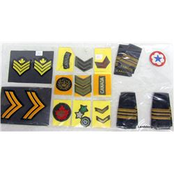 MILITARY CHEVRONS AND CRESTS