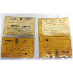 MILITARY RATION BOOKS, MAIL AND PHOTOS