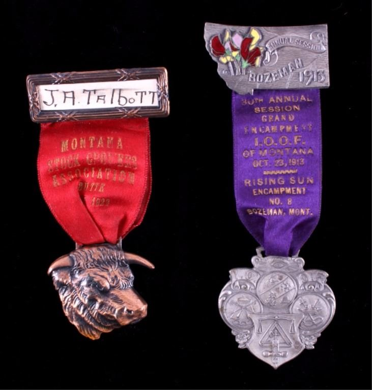 Early 1900's Montana Convention Ribbons and Medals