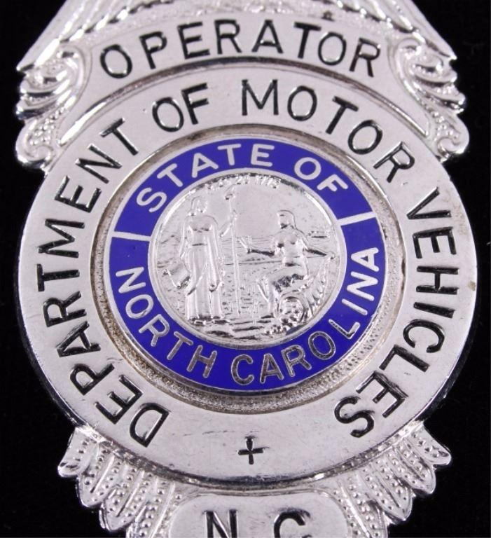 Department of Motor Vehicles North Carolina Badge