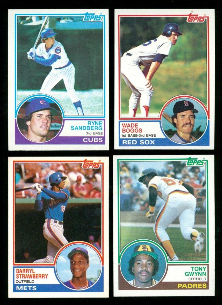 Lot Of 4 1983 Topps Baseball Cards With 482 Tony Gwynn