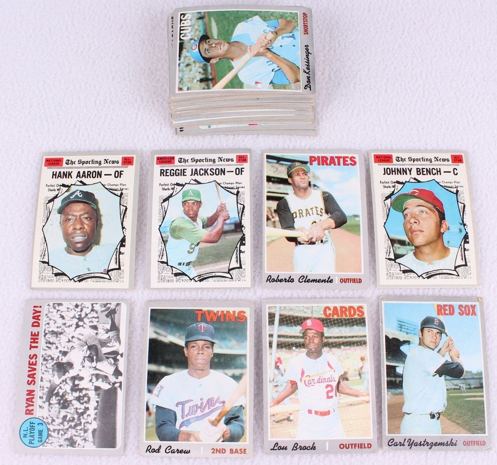 Lot Of 57 1970 Topps Baseball Cards With 290 Rod Carew