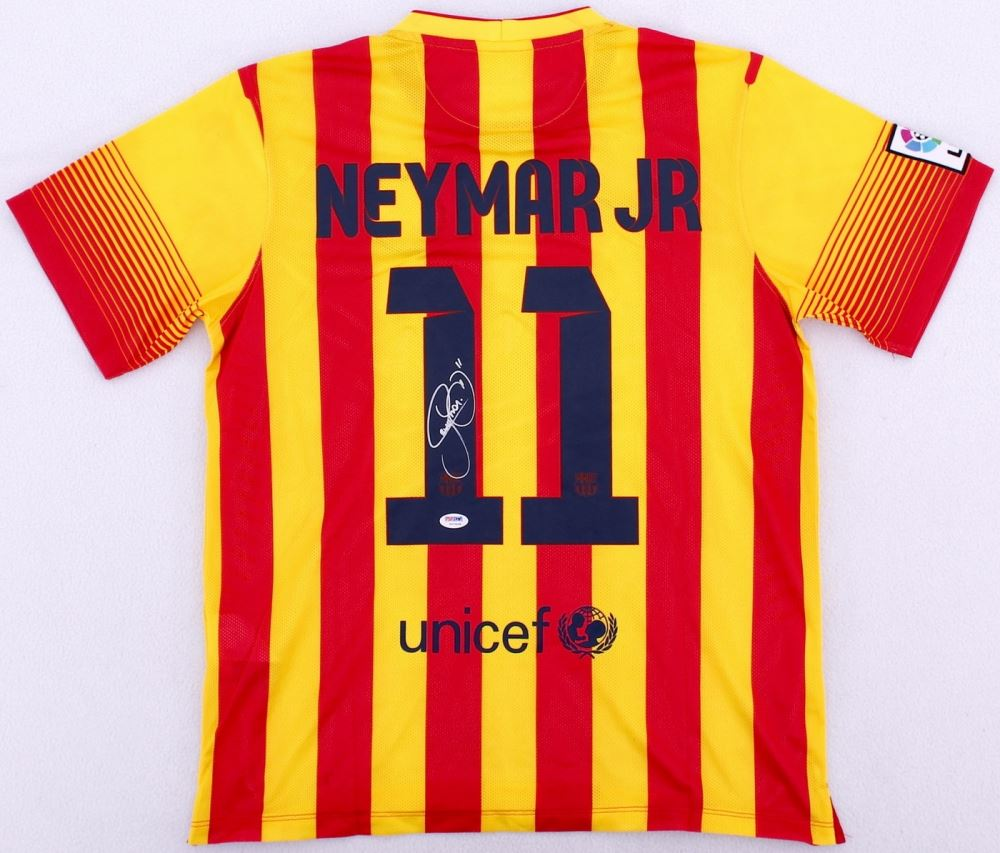 huge discount 4b715 05215 Neymar Jr. Signed Barcelona Nike Authentic Soccer Jersey ...