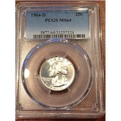 1964-D US 25Cent PCGS MS64