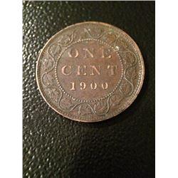 1900 Canada 1 Cent - F-VF