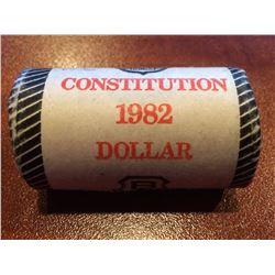 1982 Constitution Nickel Dollar Roll - Unopened Brinks Roll