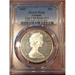 1965 Canada Dollar SBPT5 PCGS PL65