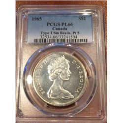 1965 Canada Dollar SBPT5 PCGS PL66